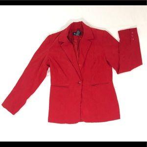 Denim &Co red blazer